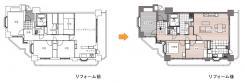 インテリア家具を引き立てるマンションリノベーション。間取り図